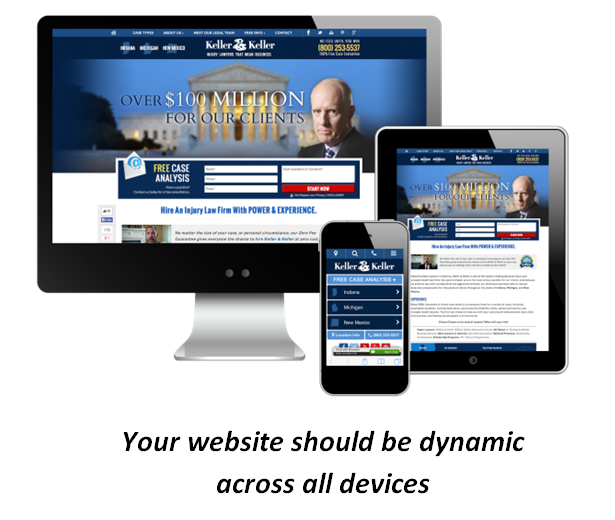 Keller and Keller website on all devices