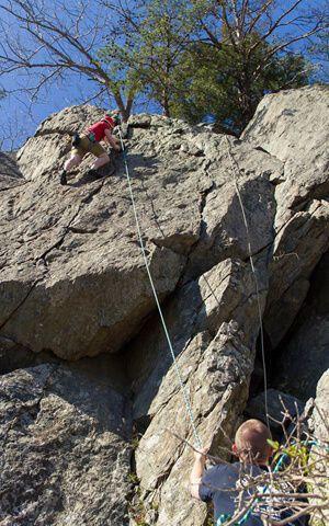 Rock climbing in Great Falls