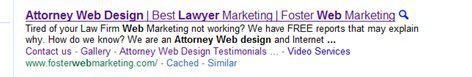 Google meta description example