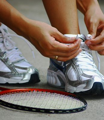 Good shoes and socks prevent blisters!