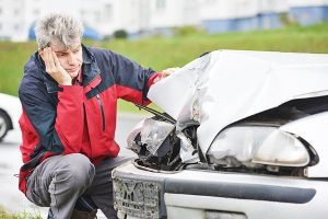 Man Contemplating Car Accident Claim After Crash
