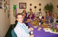 Mardi Gras themed Open House event