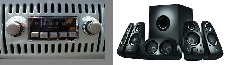speakers and radio