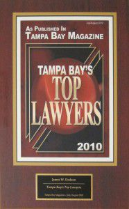 Tampa Bay's Top Lawyers Award