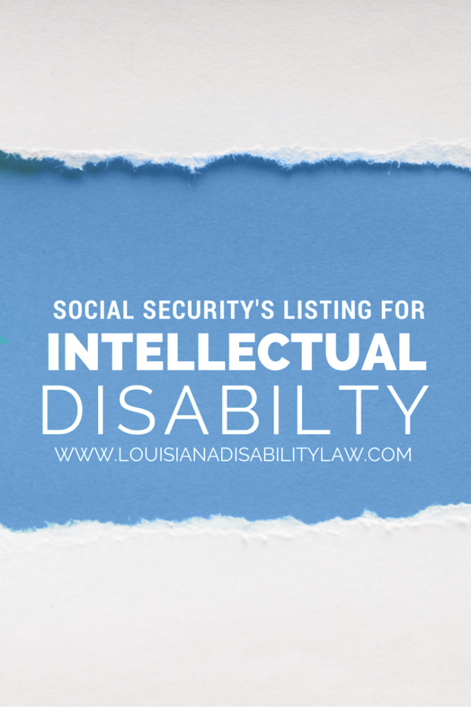 Social Security's Listing for Intellectual Disability