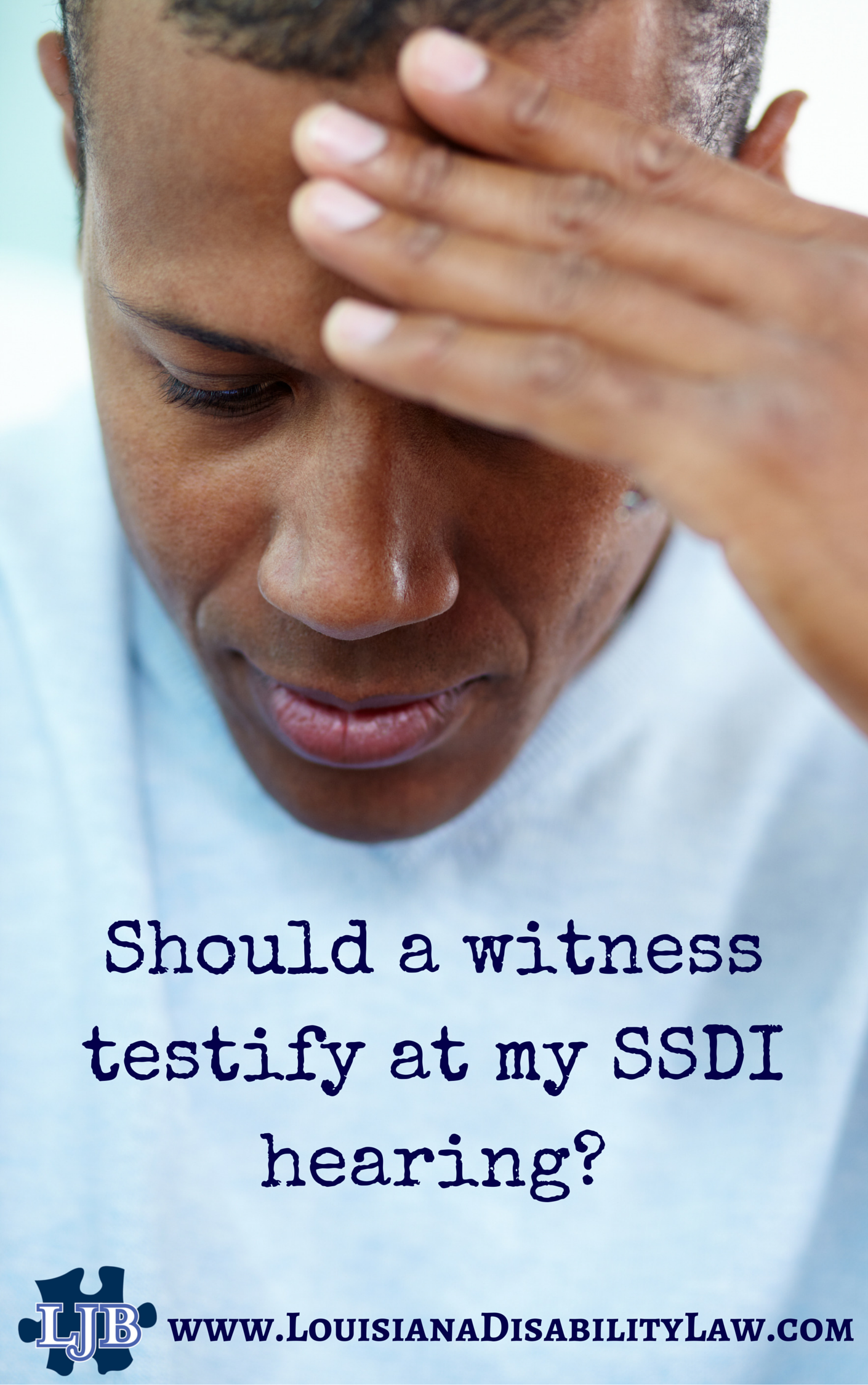 Do I need a witness for my disability hearing? A sincere, straightforward person talking about how you are affected by your condition can result in a favorable decision.  Witnesses can be a husband/wife, son, daughter, neighbor, friend, co-worker, supervisor, or anyone else that can provide information on the extent of your limitations.