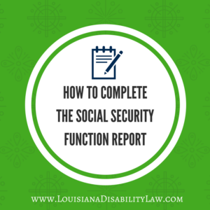 HOW TO COMPLETE THE SOCIAL SECURITY FUNCTION REPORT