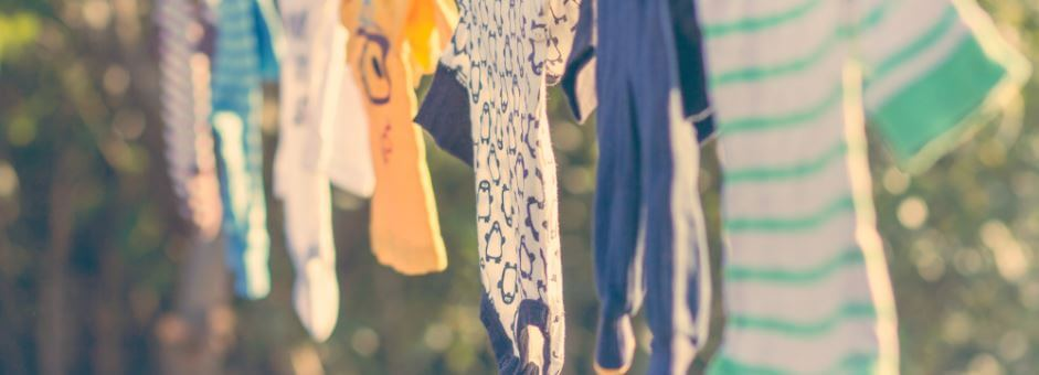 Hanging onesies for clothes drive