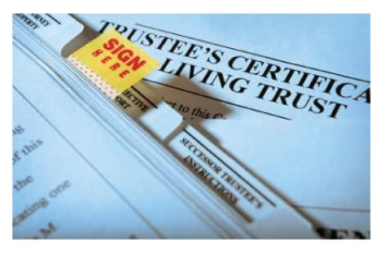 Living Trust Certificate With Sign Here Tab