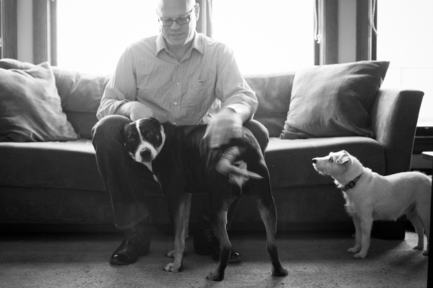 Paul Nathan with his dogs