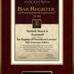 Neblett, Beard & Arsenault Bar Plaque