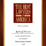 Award for being among the best lawyers in America