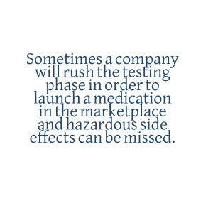 Pharmaceutical Side Effect Quote