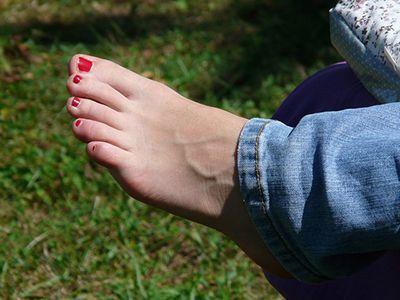 Foot with Nail Polish