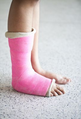 Pink Foot and Ankle Cast
