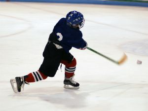 Kid Playing Hockey