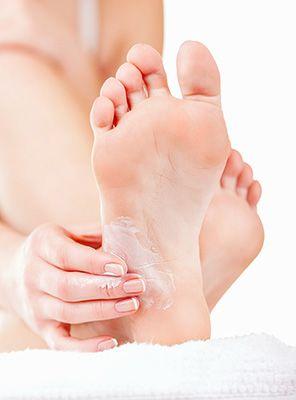 Moisturize Dry Heels