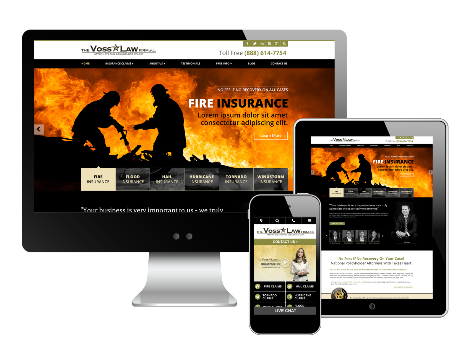 Voss Law Firm Website Design