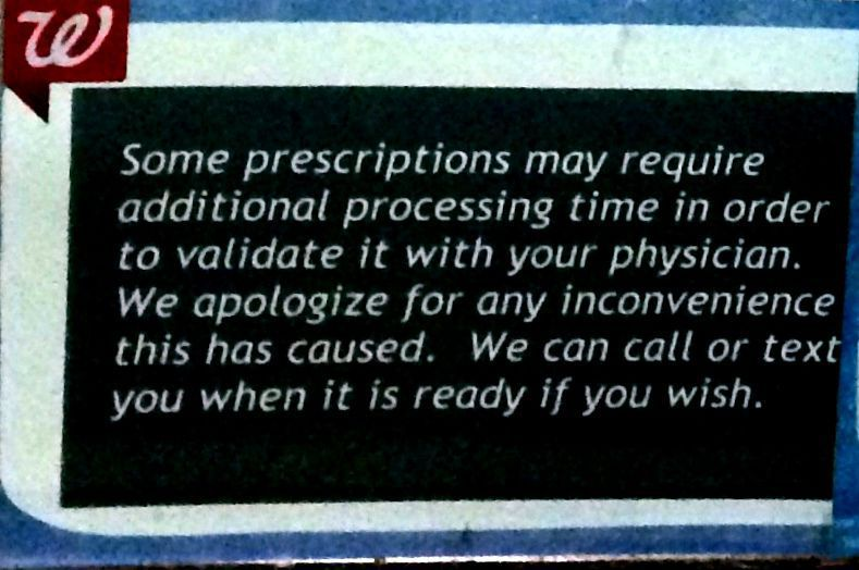 Walgreens Prescription Typo
