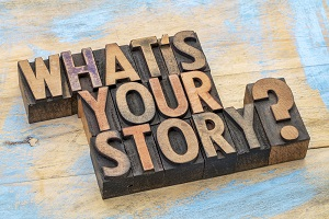 What's your story? Let your biography open a dialogue with potential clients