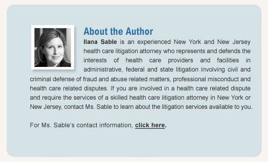 New York and New Jersey Health Care Litigation Lawyer