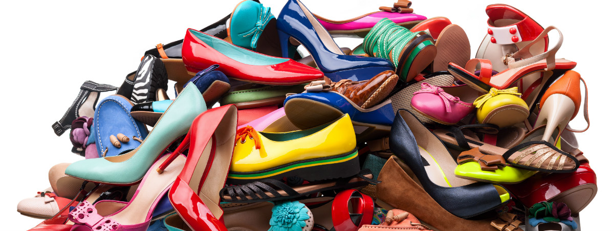 pile of differently colored high heel shoes