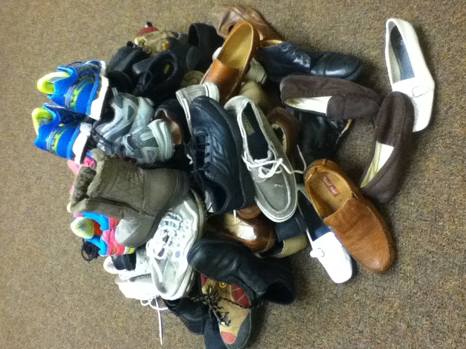 Footwear donated by our patients