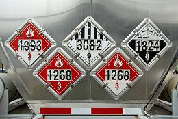 Commercial trucks must carry more insurance if they transport hazardous materials