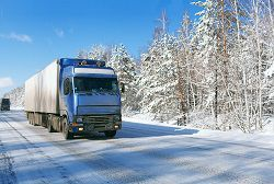 Trucks can be especially hazardous in winter driving conditions