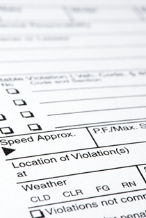 Close-Up View of a Virginia Speeding Ticket