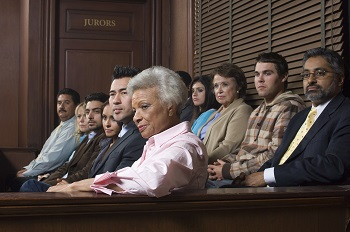 Jury in Virginia Courtroom