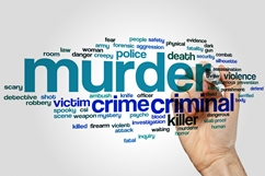 Murder Word Cloud With Related Words