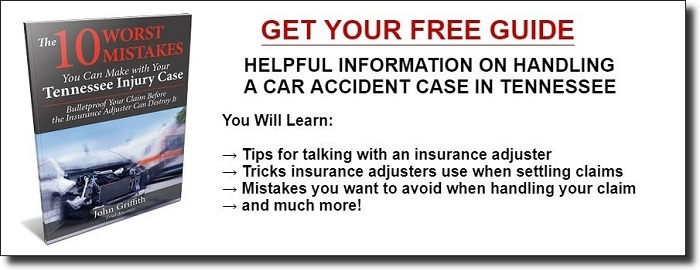 Free guide to car accidents in Tennessee