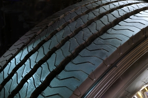 Dangerous truck tire treads
