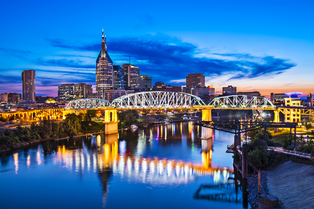 View of Nashville skyline