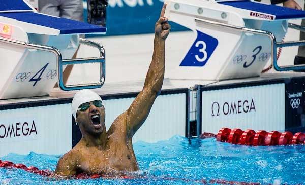 Michael Phelps at London Olympics