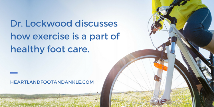 Blog graphic for healthy foot care and exercise