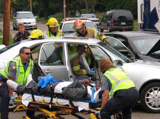 passenger injured in car accident
