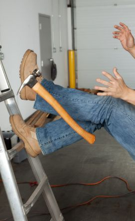Ladder falls are a common cause of work injuries in New York and New Jersey.
