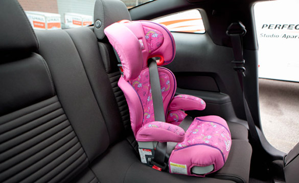 child seat in a vehcle