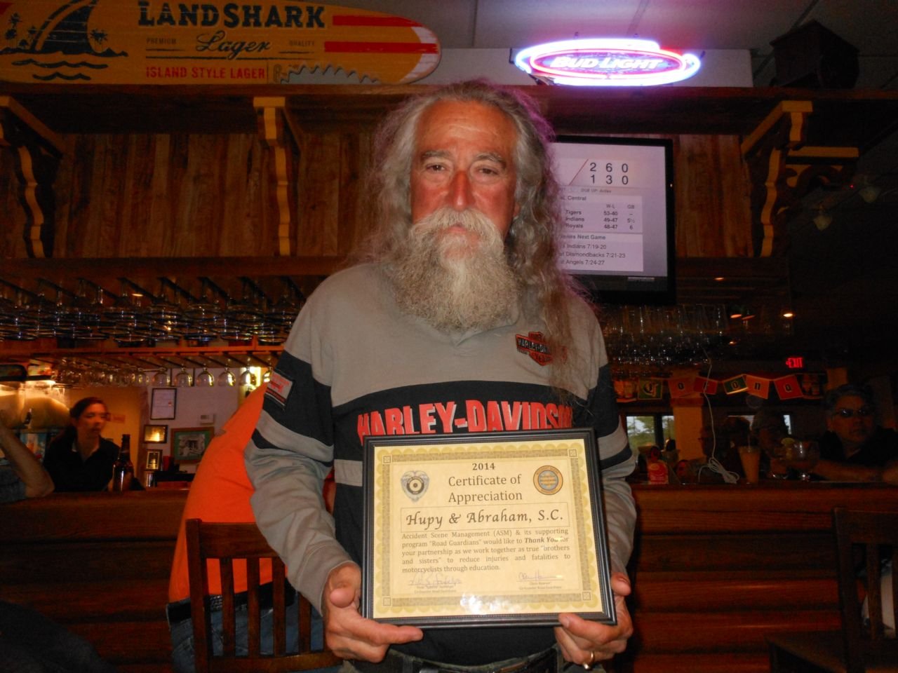 Tony Pan with Certificate of Appreciation for Hupy and Abraham