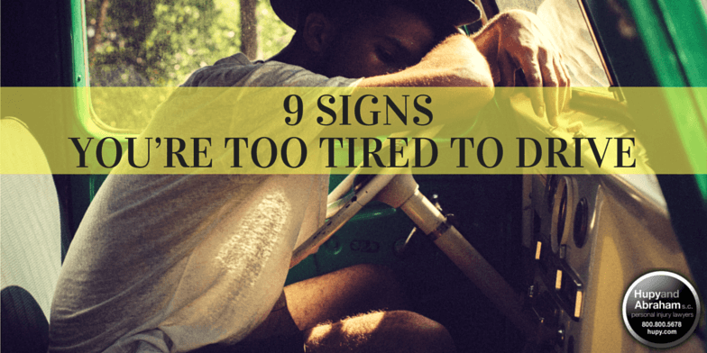 Driving while tired is nearly as dangerous as driving while intoxicated