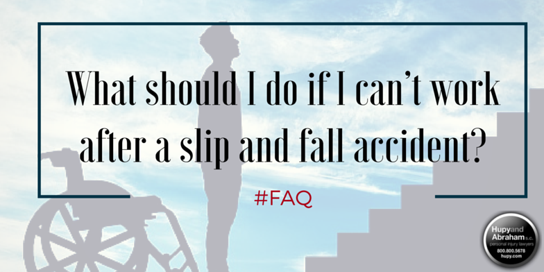You may find it impossible to work in your old job after your slip or fall injury