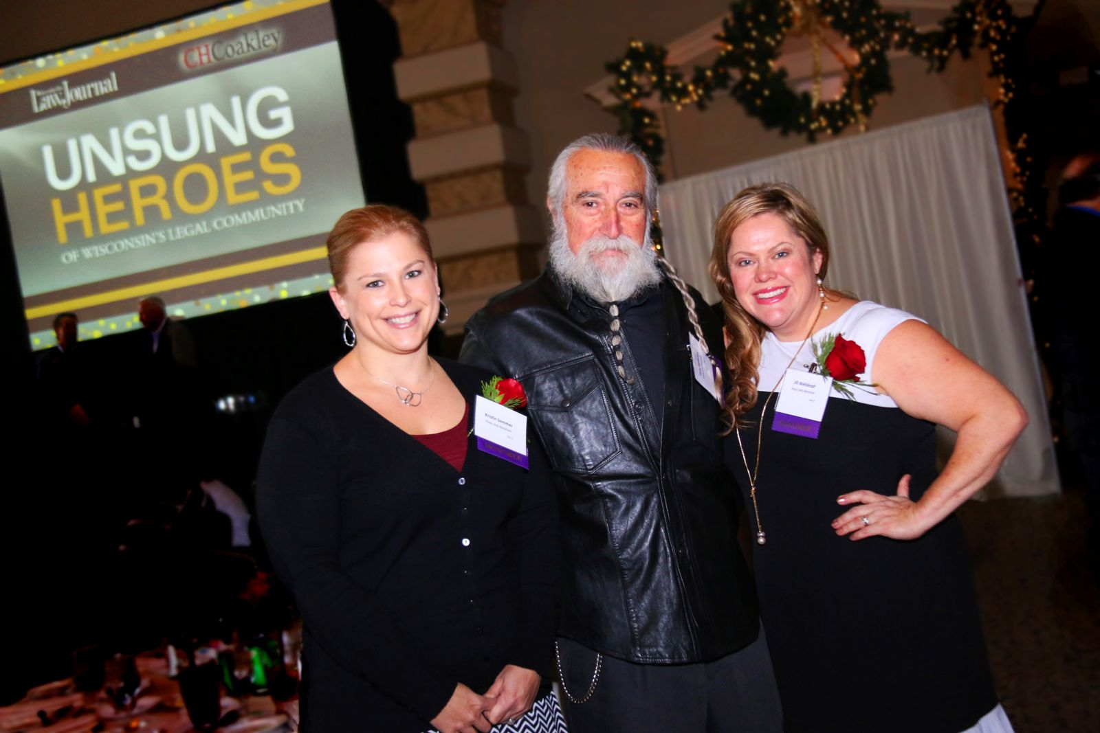 Jill, Tony and Kristin at Unsung Heroes event
