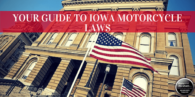 Iowa has traffic laws that apply specifically to motorcycle riders