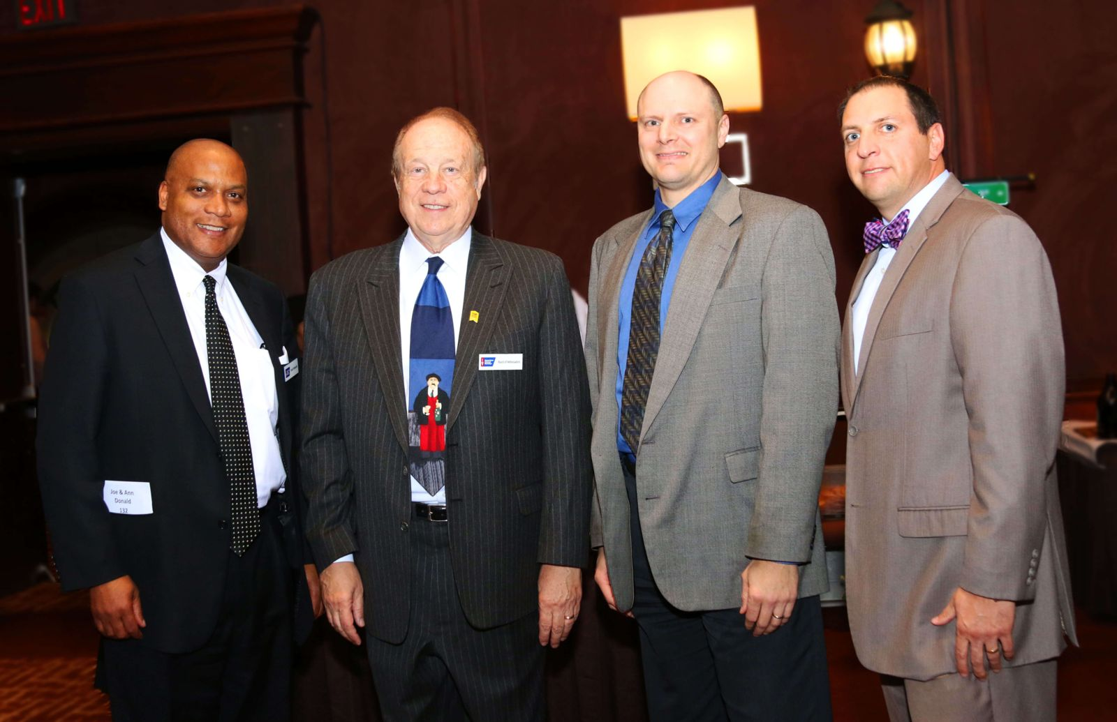 Keynote speaker judge joe donald, Mike Hupy, Todd korb, and Tom perlberg and american cancer society event