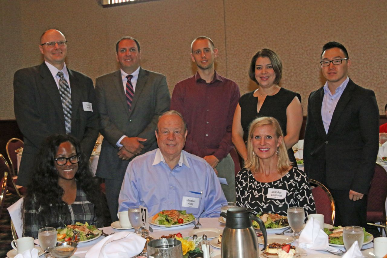 Attorney Michael Hupy and employees at Legal Aid Society Luncheon