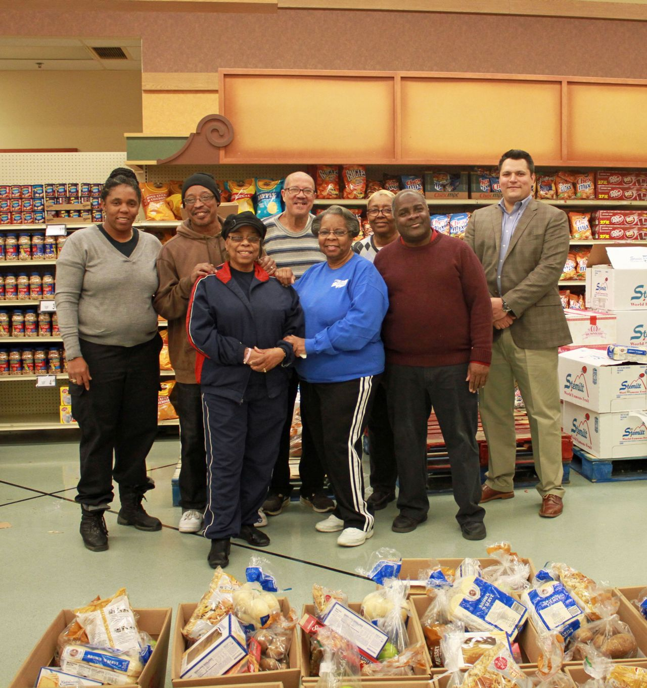 Hupy and Abraham employees volunteering at Basket Giveaway
