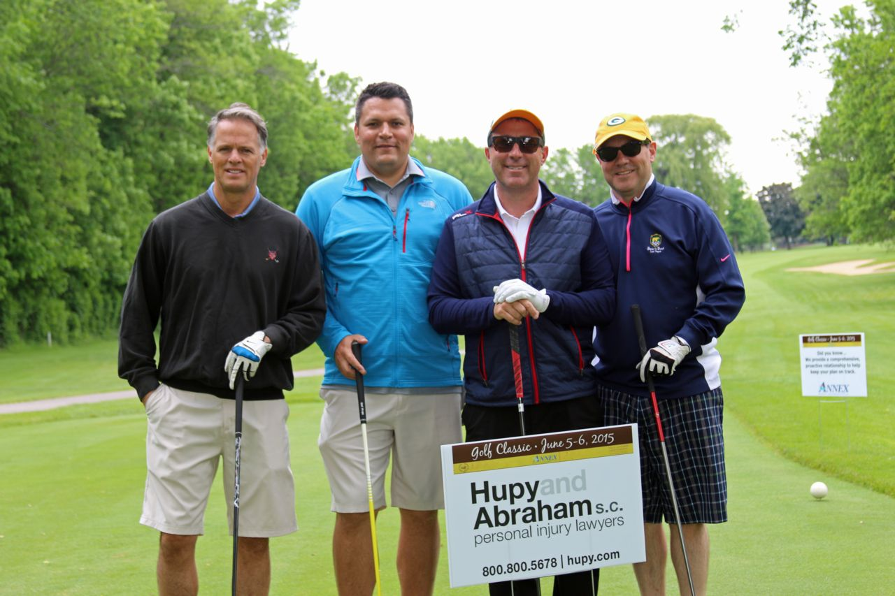 Attorney Jason Abraham and Chad Krblin in Vince Lombardi Golf Classic