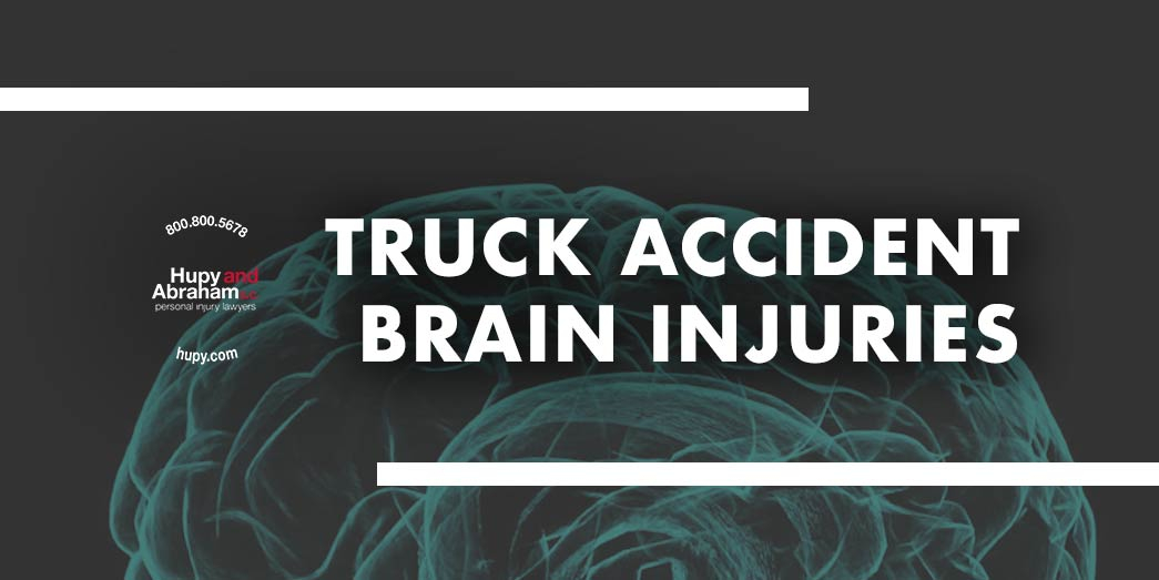 brain with text Truck accident brain injuries